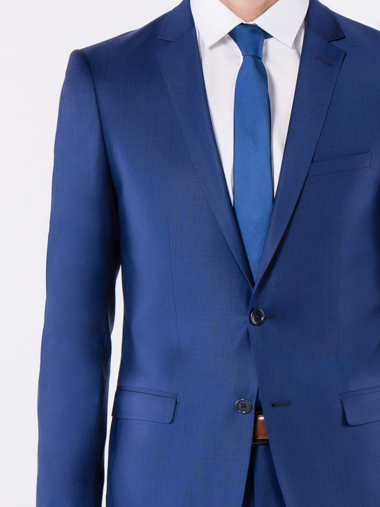 Costume Slim Fit Tivoli Bleu carbone