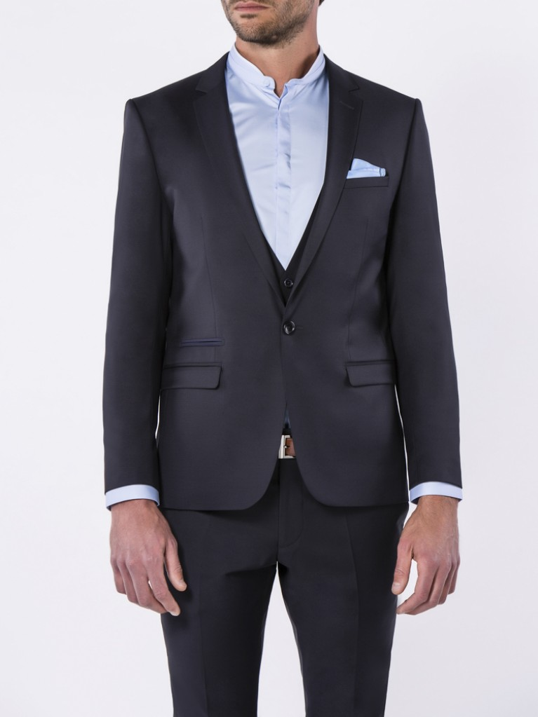 Costume Slim Fit Naples Bleu nuit