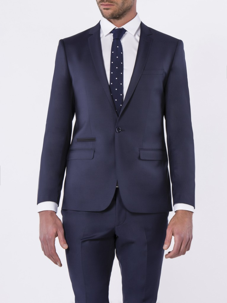 Costume Slim Fit Naples Bleu marine