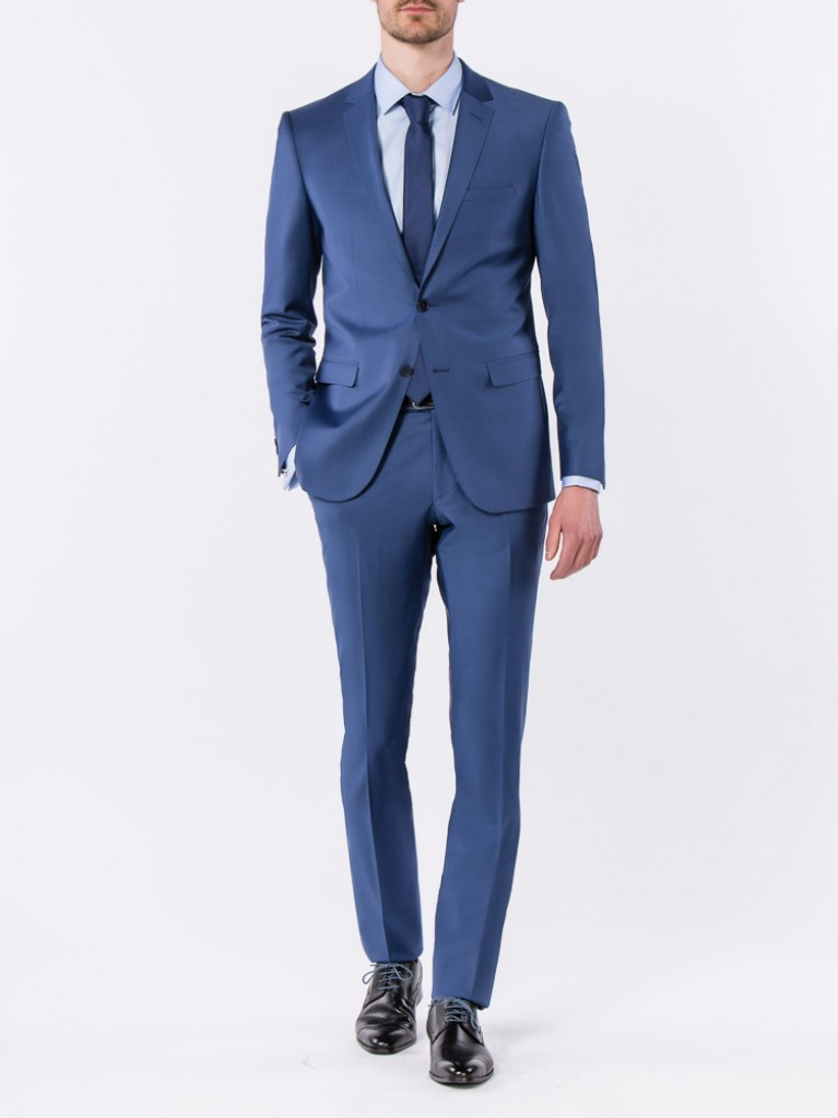 Costume Slim Fit Bergame Bleu
