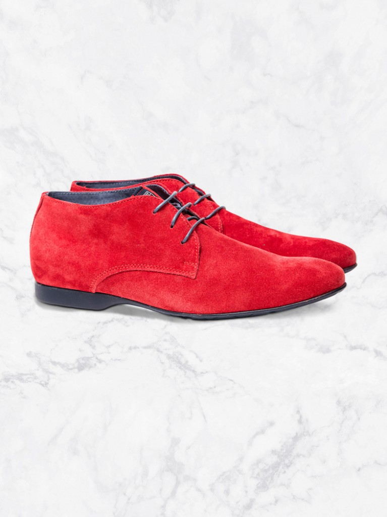 Souliers Derby montantes Rouge