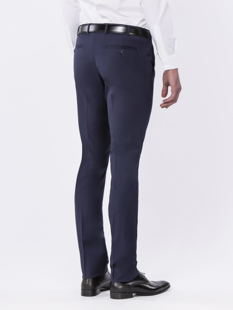 Pantalon Slim Fit Bleu marine