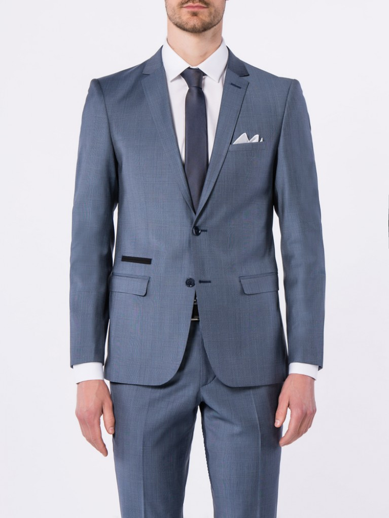 Costume Slim Fit Bergame Bleu gris