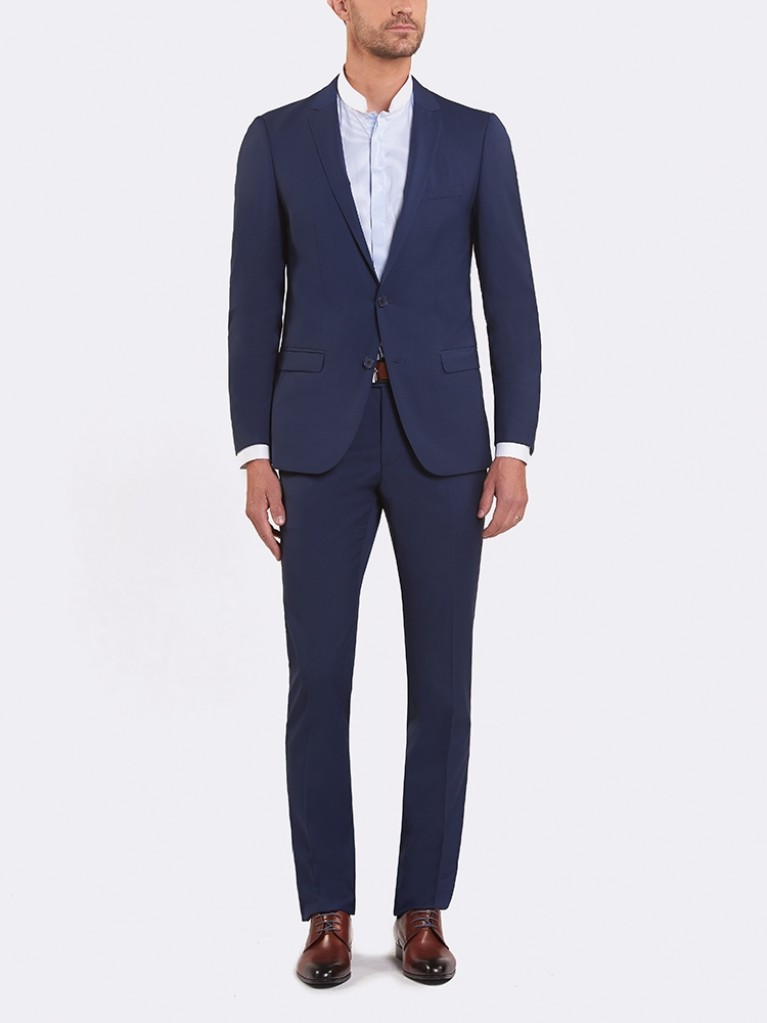 Costume Slim Fit Florence bleu carbone