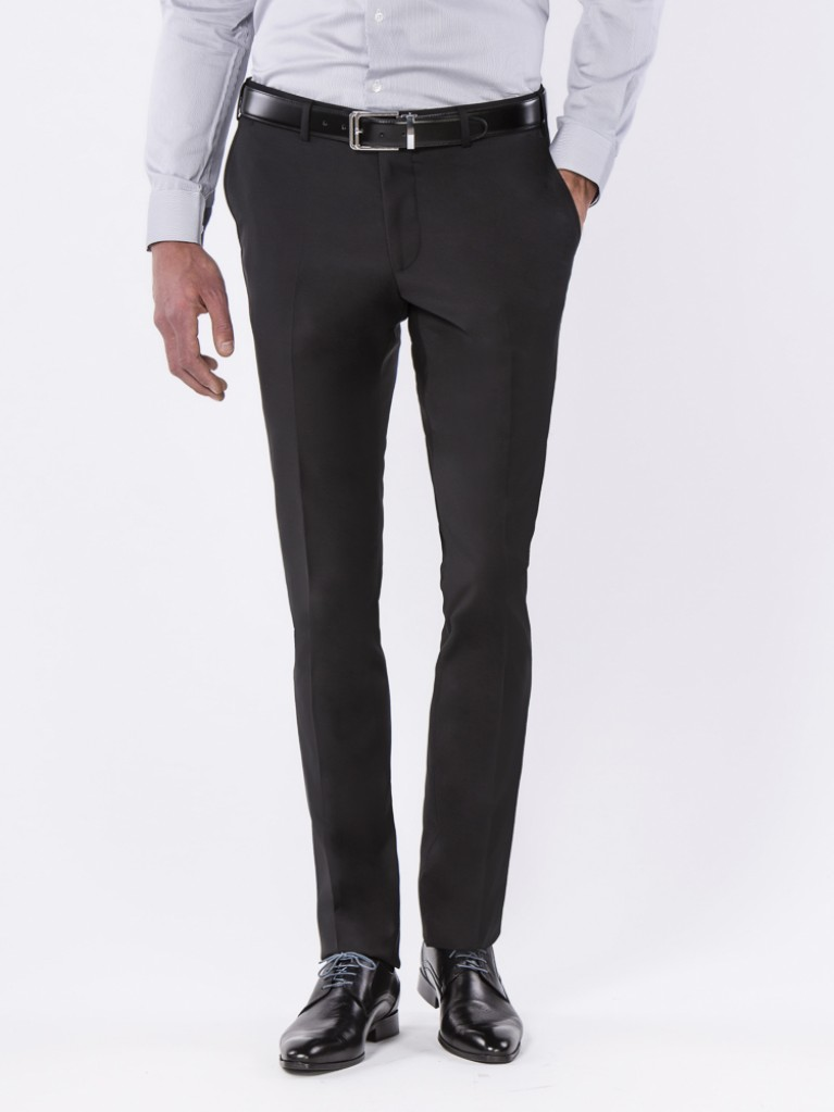 Black Blue Montesilvano Slim Fit Pants